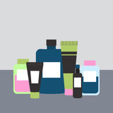 Cosmetics and Medicine Bottles. Vector Illustration Stock Images