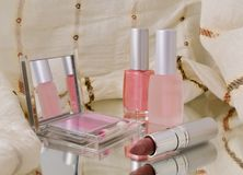 Cosmetics on the mirror Royalty Free Stock Photo