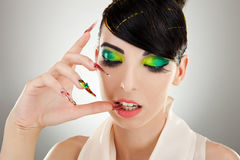 Cosmetics and nail products. Stock Photos