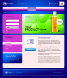 Cosmetics Online Shop Website Template Royalty Free Stock Photos