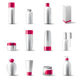 Cosmetics package Stock Photo