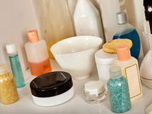 Cosmetics packaging for face and body care containers. Stock Image