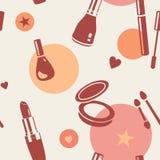Cosmetics pattern Royalty Free Stock Photos