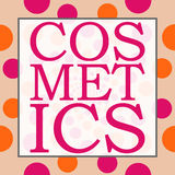 Cosmetics Peach Pink Circles Square Stock Photography