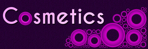 Cosmetics Pink Rings Banner Stock Images