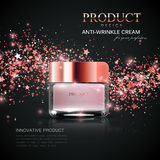 Cosmetics product ads. Stock Photography