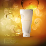 Cosmetics product ads poster template. Royalty Free Stock Photos
