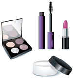 Cosmetics products isolated on a white Royalty Free Stock Images