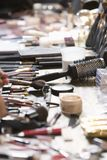 Cosmetics range on dressing table Stock Photography