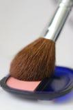 Cosmetics - rose blush Stock Image