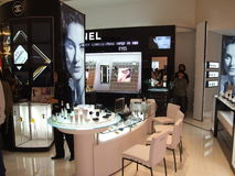 Cosmetics for sale at the Siam Paragon, Bangkok. Royalty Free Stock Photos