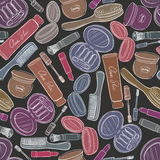 Cosmetics seamless background. Stock Photography