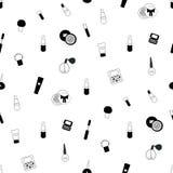 Cosmetics seamless  pattern Stock Photography