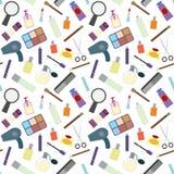 Cosmetics seamless pattern. Stock Photos