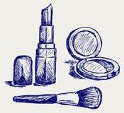 Cosmetics set Stock Images