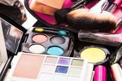 Cosmetics set close up Stock Images
