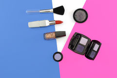 Cosmetics set with copy space Royalty Free Stock Image
