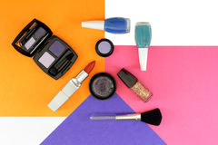 Cosmetics set with copy space Royalty Free Stock Photography