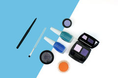Cosmetics set with copy space Stock Image