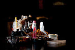 Free Cosmetics Set For Make-up Artist On Nature Light Stock Photo - 79562580
