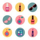 Cosmetics Set. Icons Set. Cosmetology. Fashion and Beauty Royalty Free Stock Photography