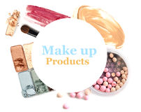 Cosmetics set isolated on white. Stock Photography