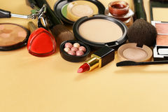 Cosmetics set for make-up Royalty Free Stock Image