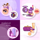 Cosmetics set makeup set Royalty Free Stock Photography