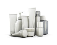 Cosmetics set on a white background Royalty Free Stock Photography