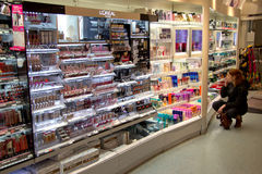 Cosmetics shop Stock Images