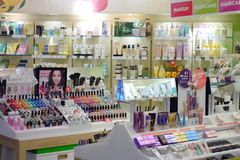 Cosmetics Shop Royalty Free Stock Photography