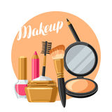 Cosmetics for skincare and makeup. Background for catalog or advertising.  Royalty Free Stock Photography