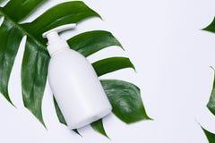 Cosmetics SPA μαρκάροντας πρότυπο, τοπ άποψη, στο άσπρο υπόβαθρο Στοκ εικόνες με δικαίωμα ελεύθερης χρήσης