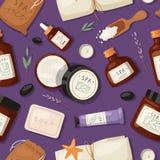 Cosmetics spa branding pack mockup natural body care bottle treatment hygiene product make-up vector illustration vector illustration