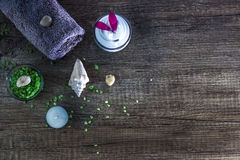 Cosmetics and spa. Toiletries for care of body Stock Images