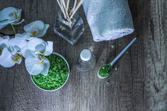 Cosmetics and spa. Toiletries for care of body Royalty Free Stock Photos