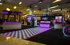 The cosmetics store of DIOR in Siam Paragon mall, Bangkok, Thailand stock photo