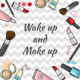 Cosmetics template Royalty Free Stock Images