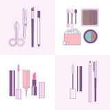 Cosmetics tools icons Stock Photo