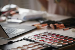Cosmetics. Various cosmetics on the table Stock Photo