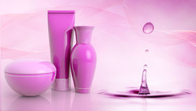 Cosmetics  and water droplet Stock Photo