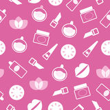 Cosmetics and wellness seamless pattern or texture vector illustration