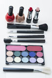 Cosmetics. The cosmetics on white background Stock Photography