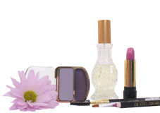 Cosmetics on White Background Royalty Free Stock Photos