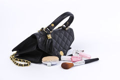 Cosmetics in women bag. Stock Photography