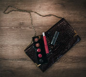 Cosmetics and women`s accessories Stock Images
