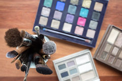 Cosmetics on wood Stock Photography