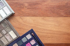 Cosmetics on wood Stock Image