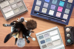 Cosmetics on wood Royalty Free Stock Photos