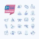 cosmetología Cuidado de piel Iconos aislados simples libre illustration
